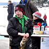 2013 Ice Fishing Derby sponsored by WMF&G and Harrsion Recreation Department. WMF&G gave away 2 lifetime fishing licenses to the two children who caught the smallest legal fish.