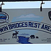 Sign at the rest area at Twin Bridges sponsored and maintained by WMF&G.