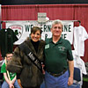 Miss Maine with Arlin at the Sportsman Show in Augusta, Maine.